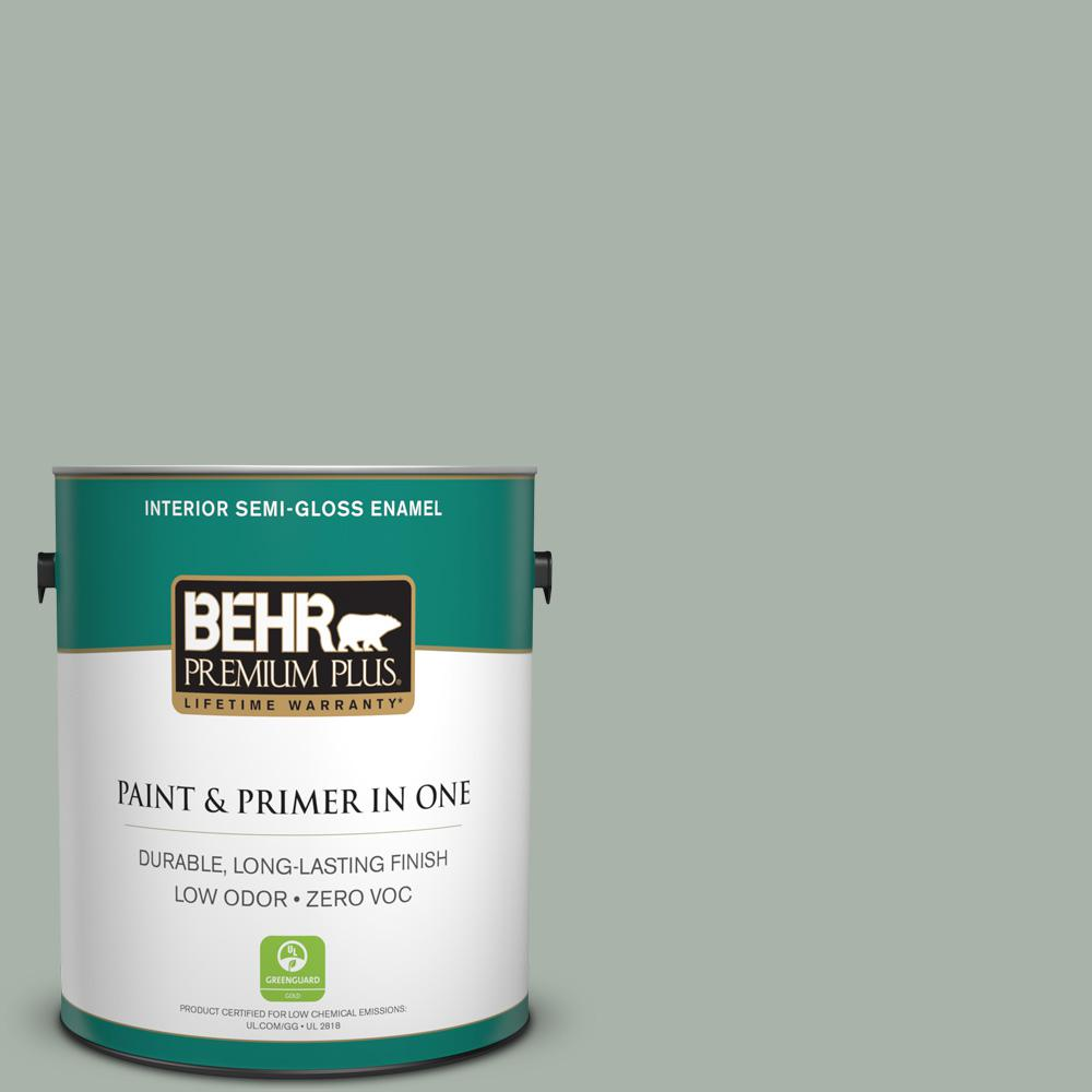 1-gal. #BXC-38 Alpine Air Semi-Gloss Enamel Interior Paint
