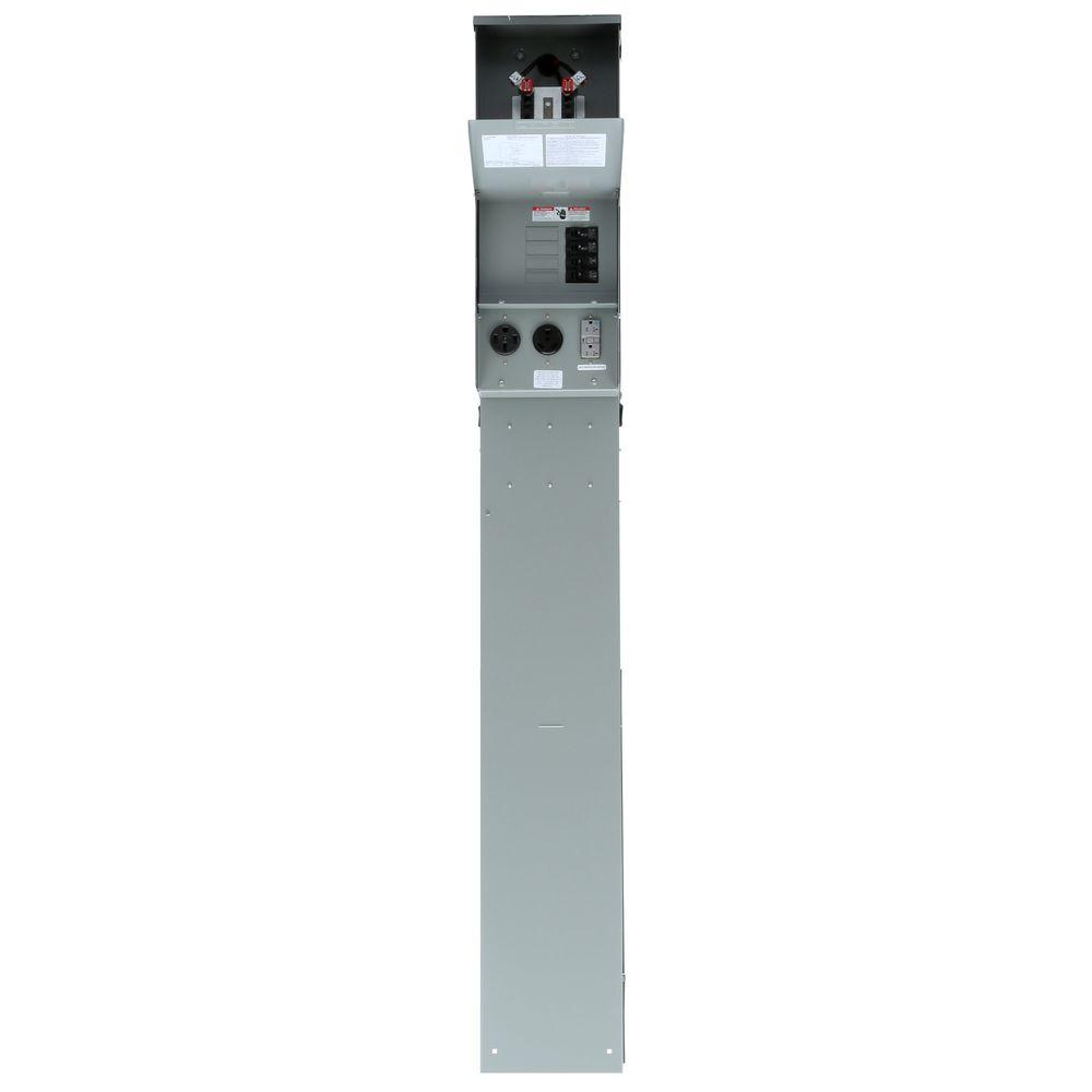 Electrical Distribution Panel With Meter : Talon temporary power outlet panel with amp