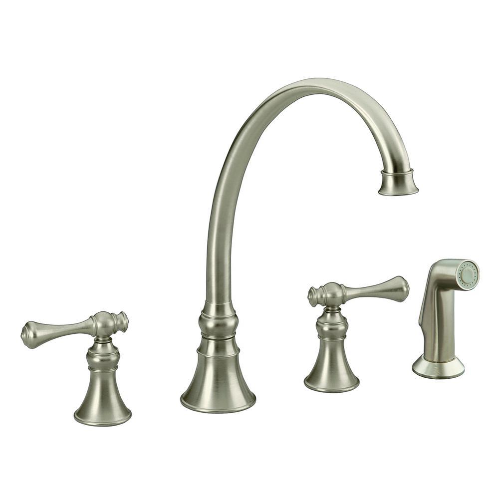 Revival 2-Handle Standard Kitchen Faucet in Vibrant Brushed Nickel