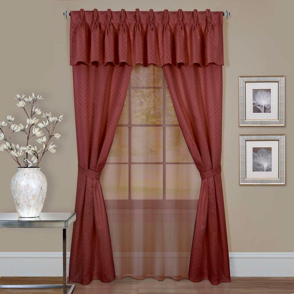Achim Sheer Claire Marsala Window Curtain Set
