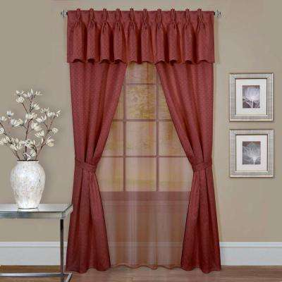 Sheer Window Curtain Set