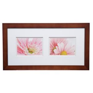 Pinnacle Gallery 5 inch x 7 inch Walnut Double Mat Picture Frame by Pinnacle
