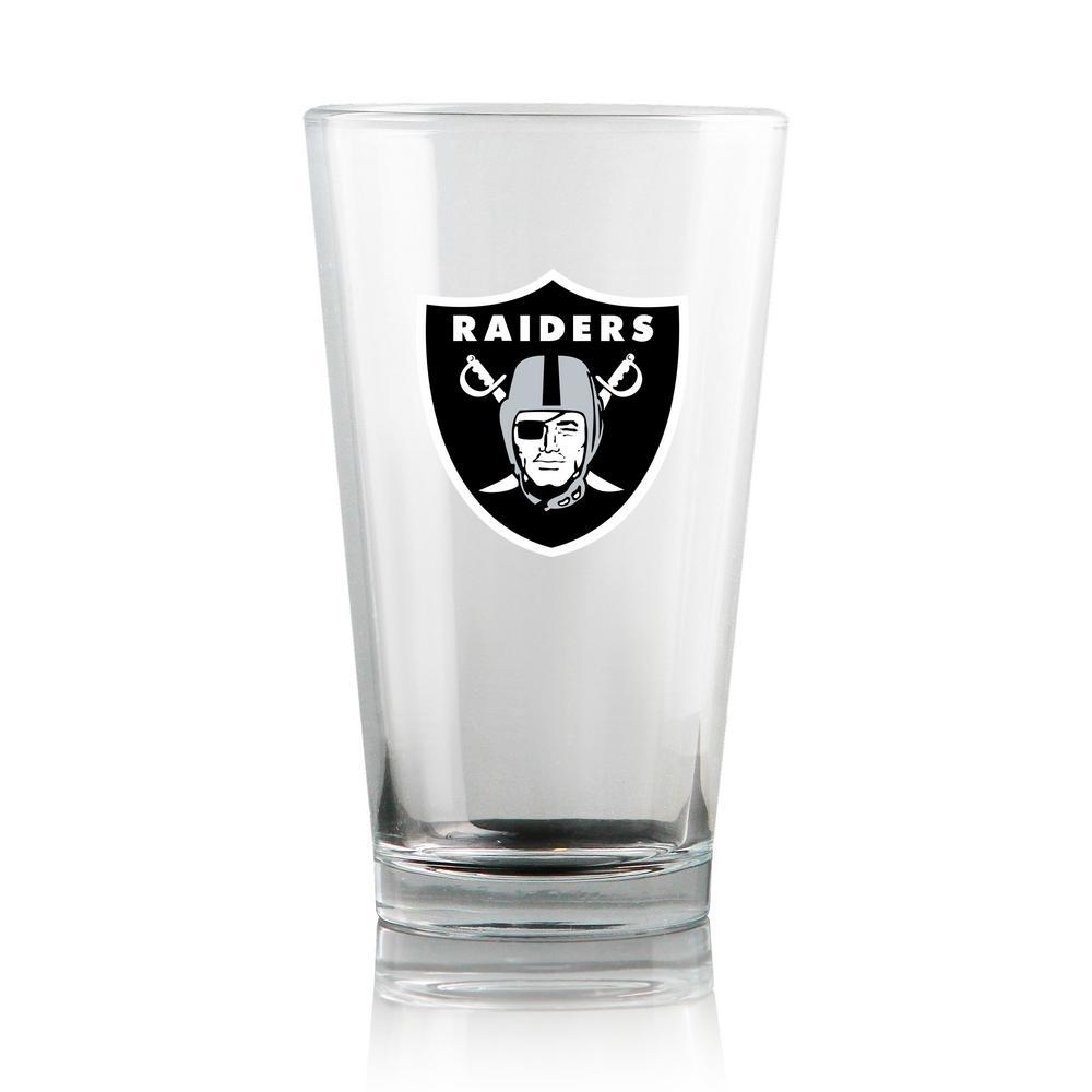 16 Oz Las Vegas Raiders Pint Beer Glass Set Of 2 Lghc120 2 The Home Depot