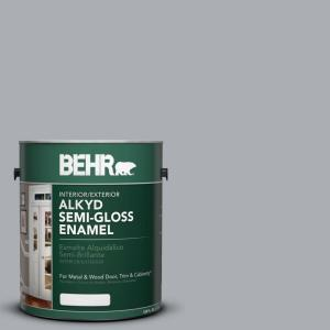 1 gal. #AE-50 Gray Cast Semi-Gloss Enamel Alkyd Interior/Exterior Paint