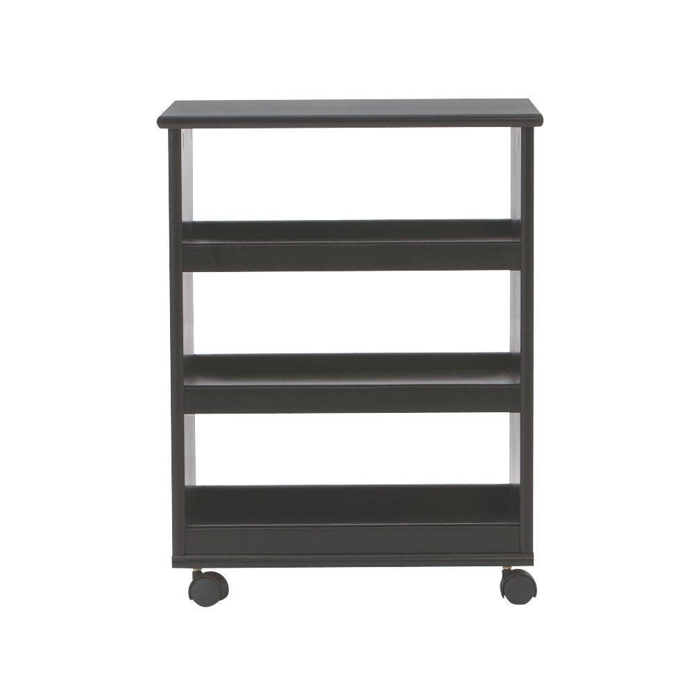 Stanton 20 in. W Multi-Function 3-Shelf Storage Cart in Black