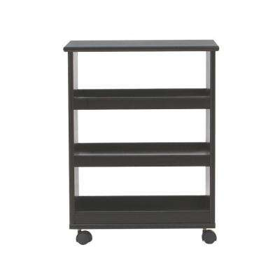 Stanton 20 in. W Multi-Function 3-Shelf Storage Cart in Black