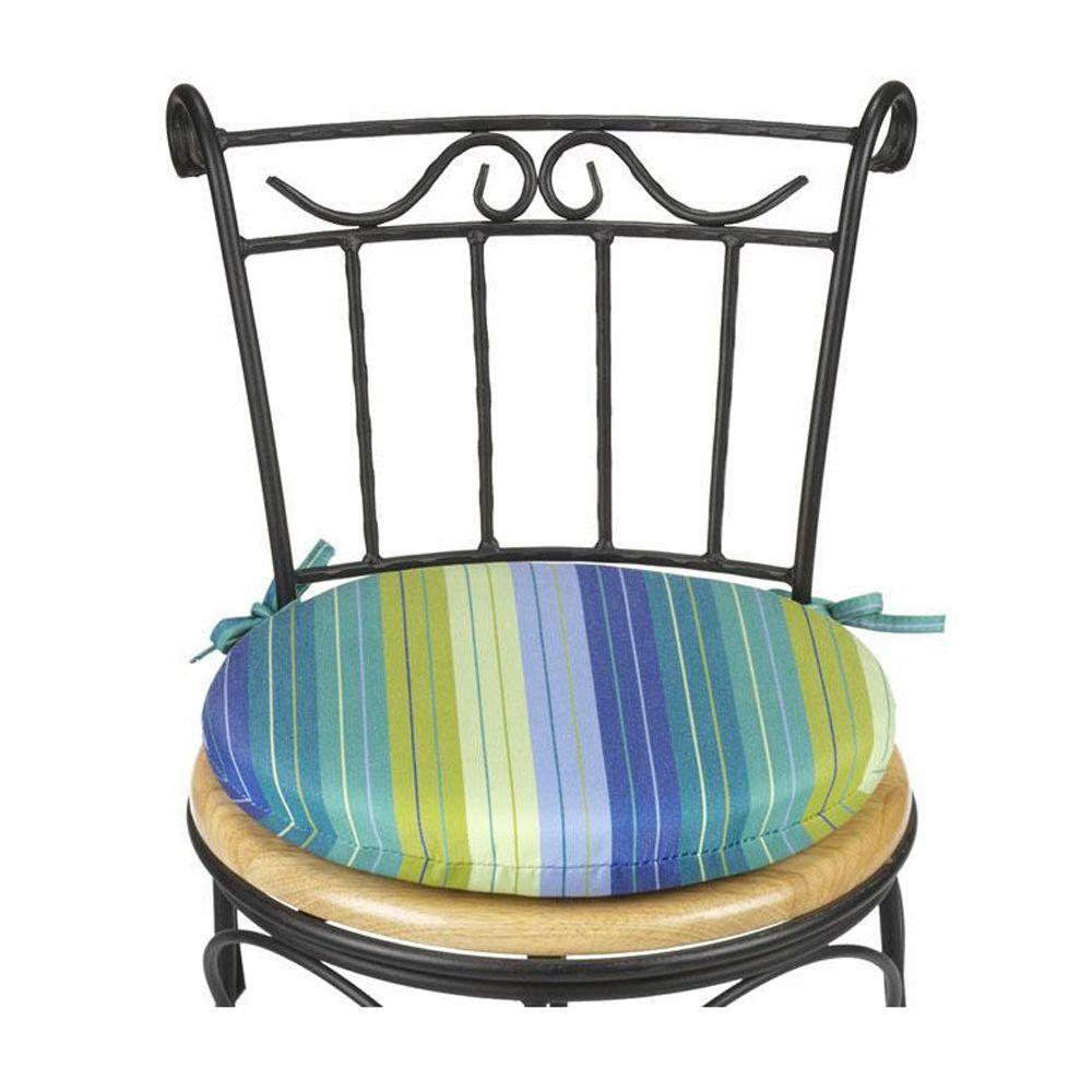 null Sunbrella Seaside Seville Round Outdoor Seat Cushion