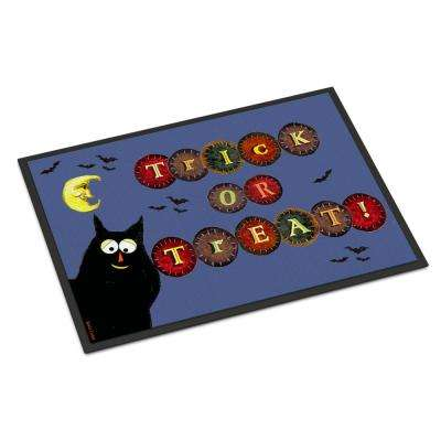 18 in. x 27 in. Indoor/Outdoor Trick or Treat Kitty Halloween Door Mat