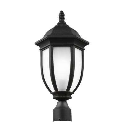 Led post lighting outdoor lighting the home depot galvyn 1 light outdoor black post light with led bulb aloadofball Gallery