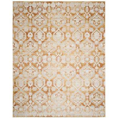 Palermo Gold/Beige 8 ft. x 10 ft. Area Rug