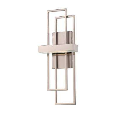 Asher 7.88 in. Brushed Nickel Integrated LED Sconce