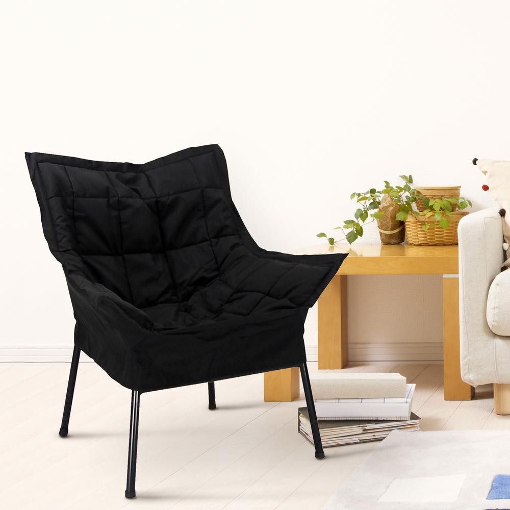 Marvelous Black Frame/Black Cover Milano Chair