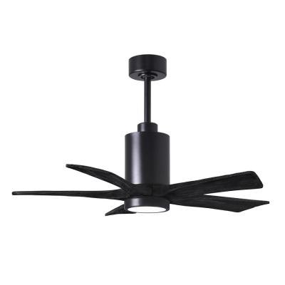 Patricia-5 42 in. Integrated LED Matte Black Ceiling Fan with Light Kit