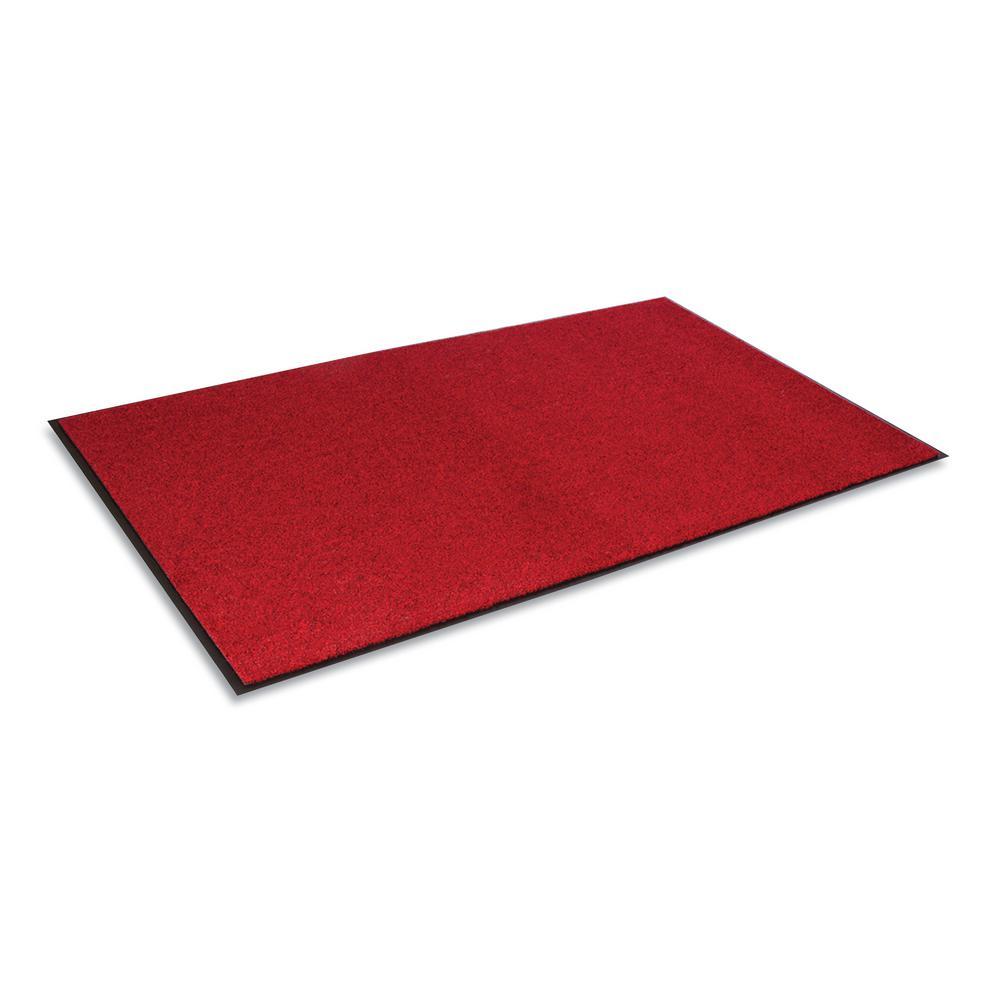 Rely-On Castellan Red 48 in. x 72 in. Olefin Indoor Wiper Commercial Floor Mat