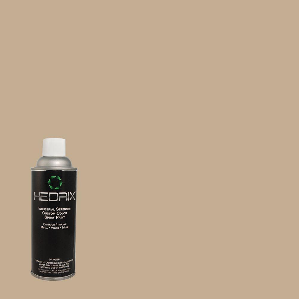 Hedrix 11 oz. Match of Wheatfield 3A10-4 Low Lustre Custom Spray Paint (2-Pack)