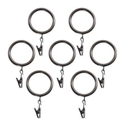 1 in. Decorative Clip Rings in Bronze (7-Pack)