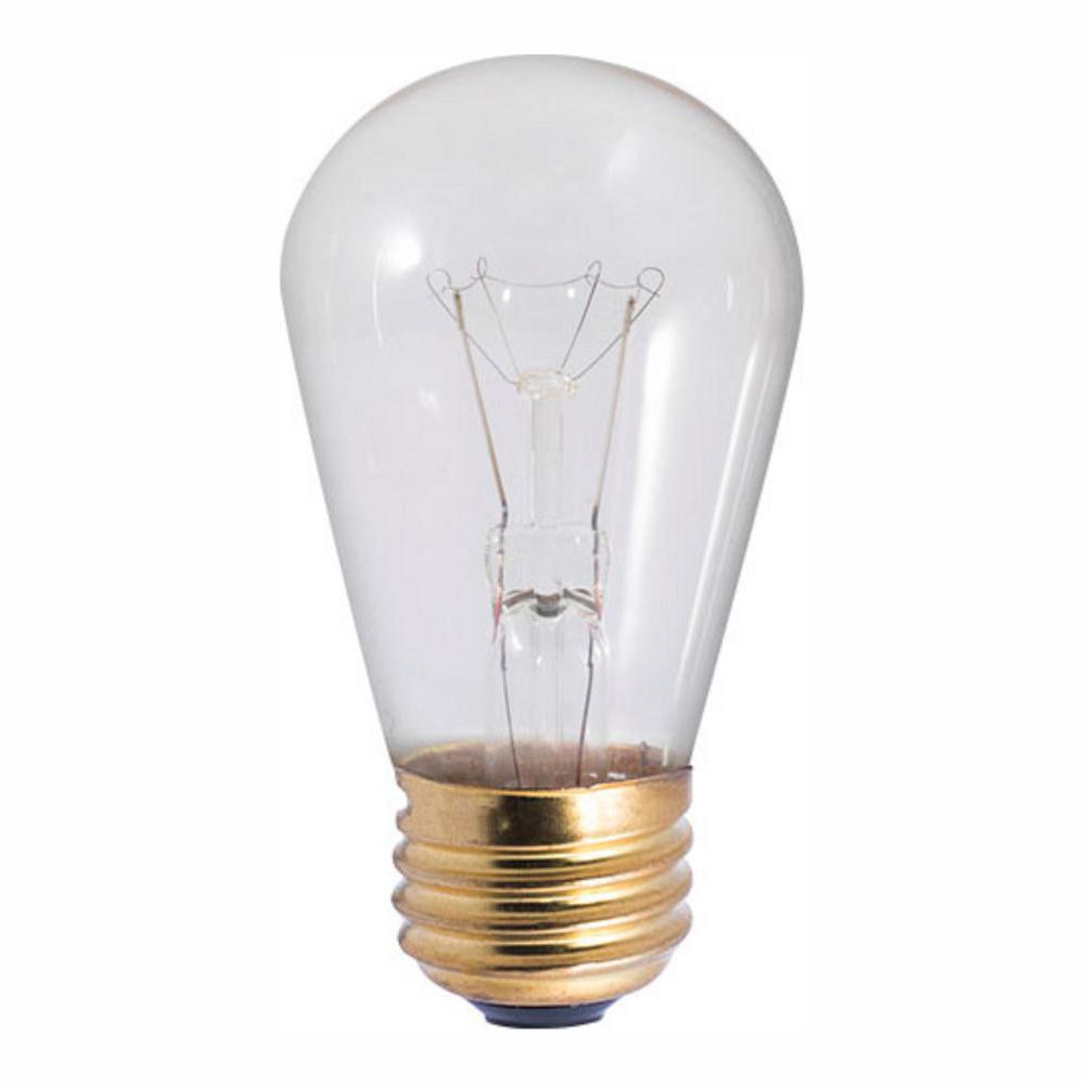 11-Watt S14 Clear Dimmable Warm White Light Incandescent Light Bulb (25-Pack)