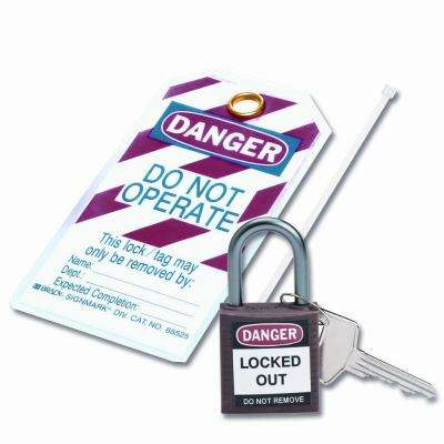 Compact Safety Padlock Kit - Brown