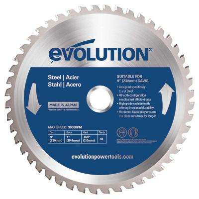 9 in. 48-Teeth Mild Steel Cutting Saw Blade