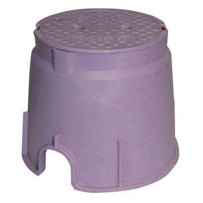 Pro Series 10 in. Round Valve Box and Cover - Reclaimed Water