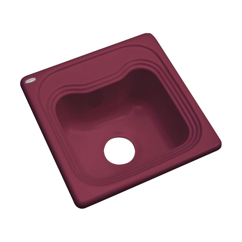 Thermocast Oxford Drop-In Acrylic 16 in. Single Basin Bar Sink in Loganberry