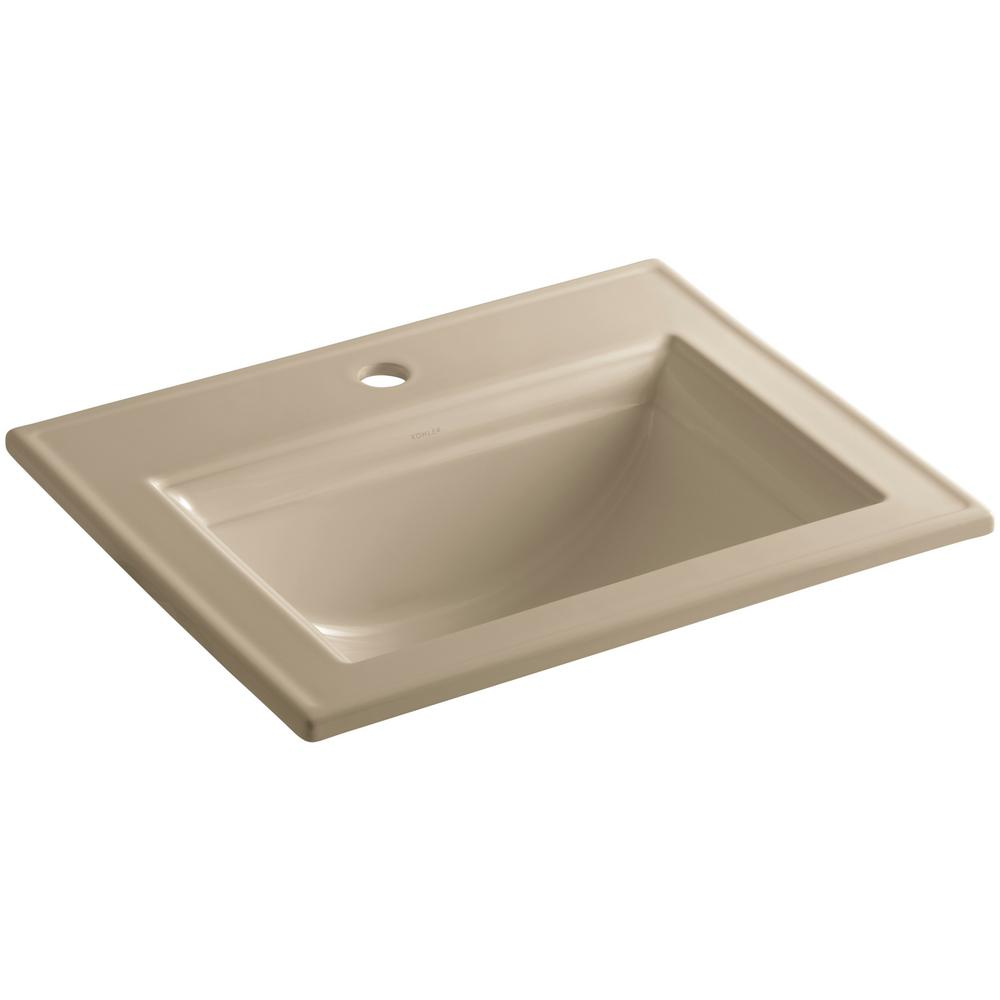 Kohler Mexican Sand Drop-In Rectangular Bathroom Sink With Overflow 23