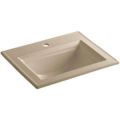 Memoirs Drop-In Vitreous China Bathroom Sink in Mexican Sand with Overflow Drain