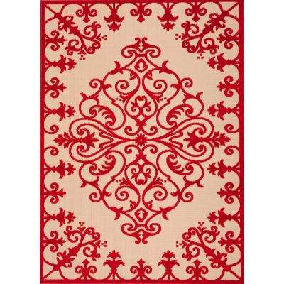 Red 5 X 7 Outdoor Rugs Rugs The Home Depot