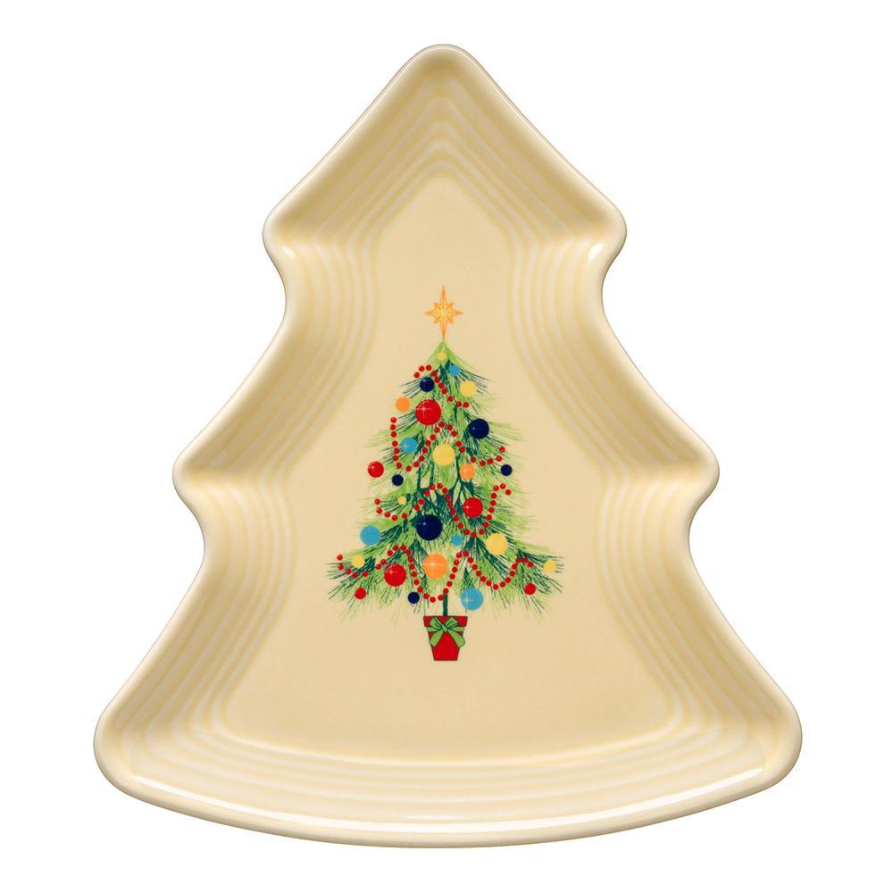 Ivory Christmas Tree-Shaped Plate