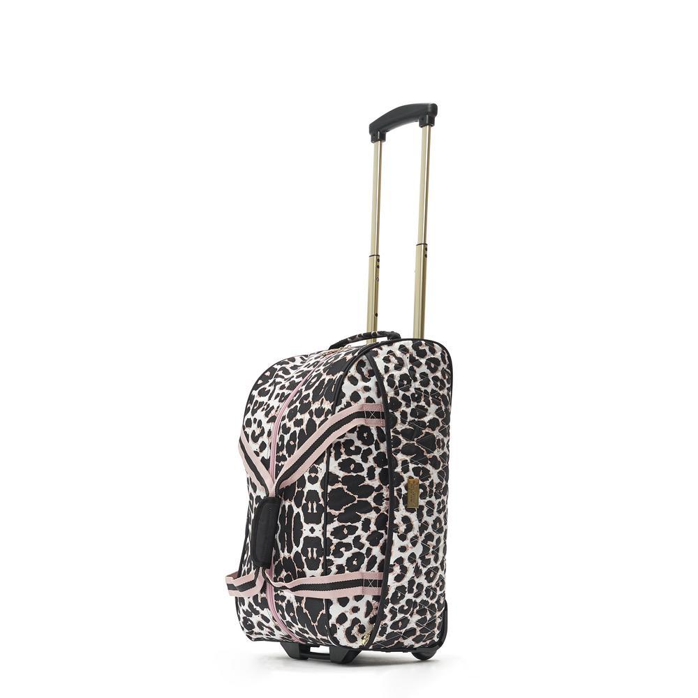Ciao Bella 21 in. Leopard Print Rolling Duffel Bag