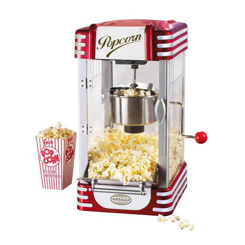 nostalgia retro kettle popcorn maker rkp 630 the home depot. Black Bedroom Furniture Sets. Home Design Ideas