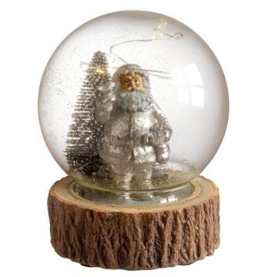 5.91 in. Santa in Glass Cover with LED