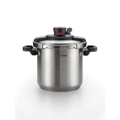 8 qt. Stainless Steel Stove Top Pressure Cooker with Steam Basket