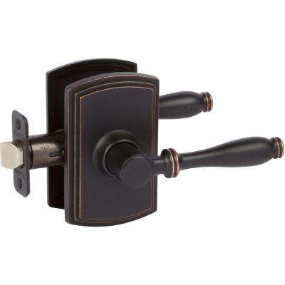 Italian Collection Sorado Edged Oil Rubbed Bronze Hall And Closet Lever