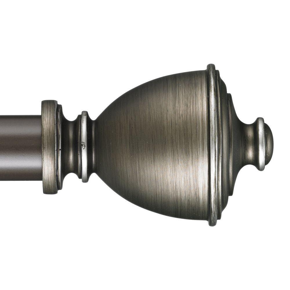 Muskoka 4 ft. Non-Telescoping Curtain Rod in Oil Rubbed Bronze