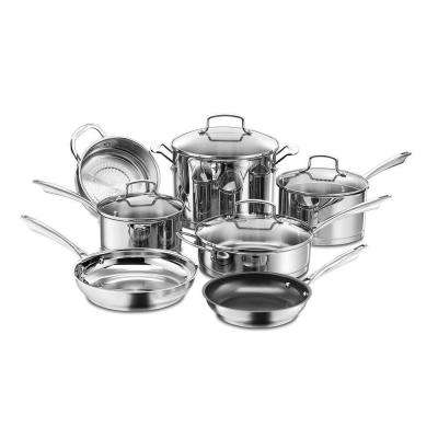 Professional Series 11-Piece Stainless Steel Cookware Set with Lids
