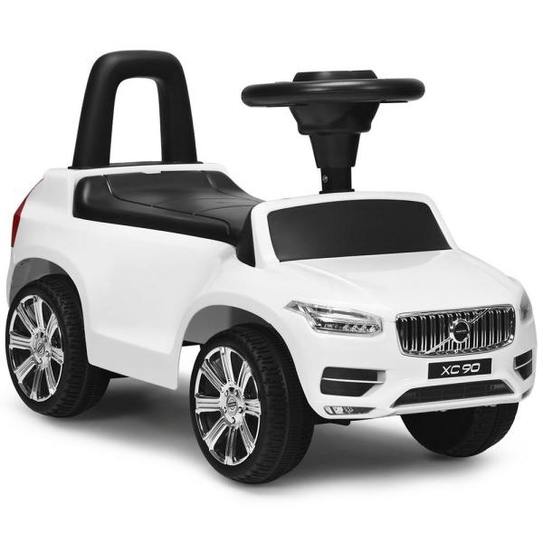 Volvo Licensed White Kids Ride On Push Car Toddlers Walker with Horn and Music
