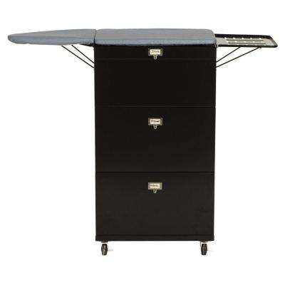 Becker Ironing Board Cart in Black