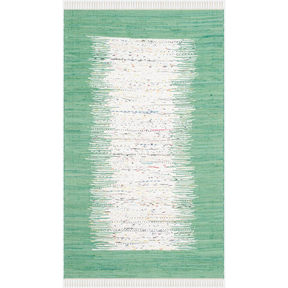 Montauk Ivory/Sea Green 4 ft. x 6 ft. Area Rug