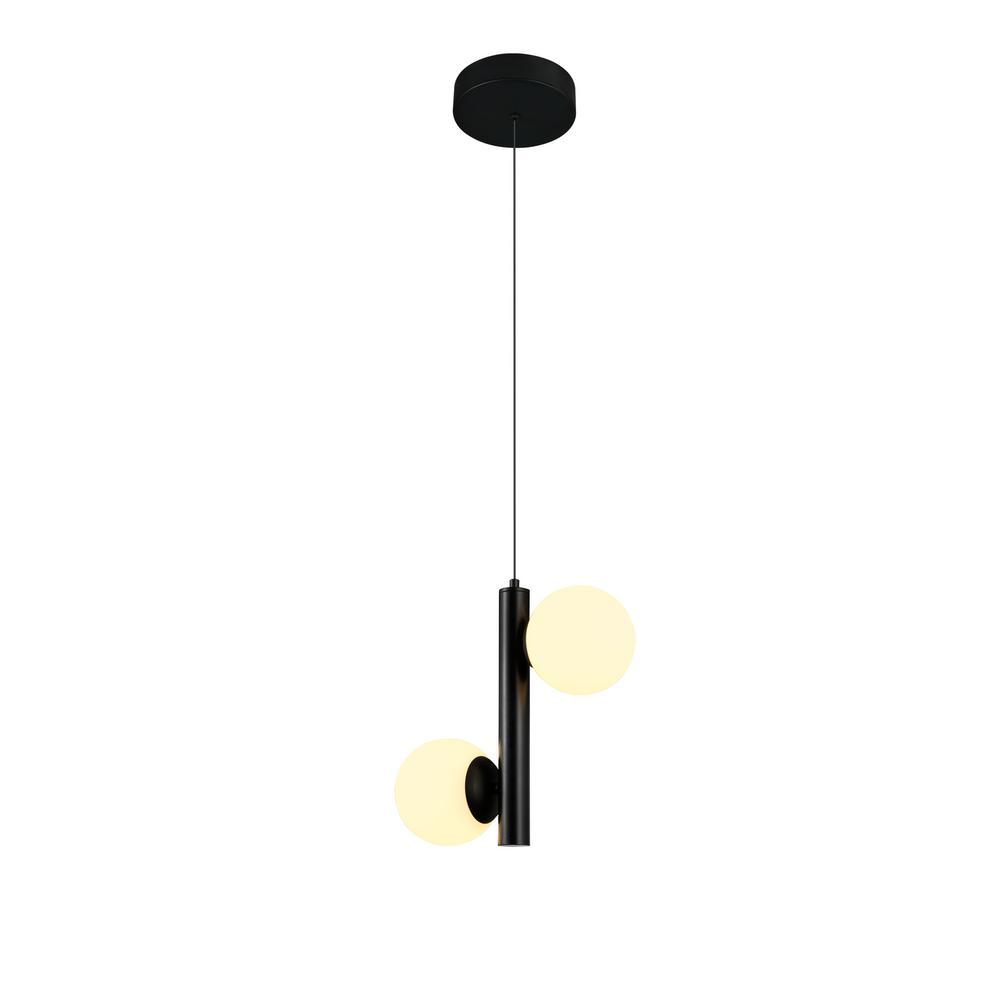 Capri 75-Watt Black Integrated LED Pendant