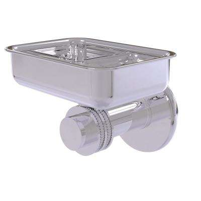 Mercury Collection Wall Mounted Soap Dish with Dotted Accents in Polished Chrome