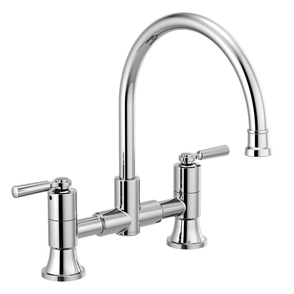 Westchester 2-Handle Bridge Kitchen Faucet in Chrome