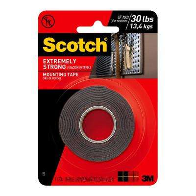 Scotch 1 in. x 1.66 yds. Permanent Double Sided Extreme Mounting Tape (Case of 12)