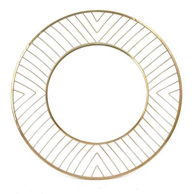 Avila Gold Small Round Mirror Gold