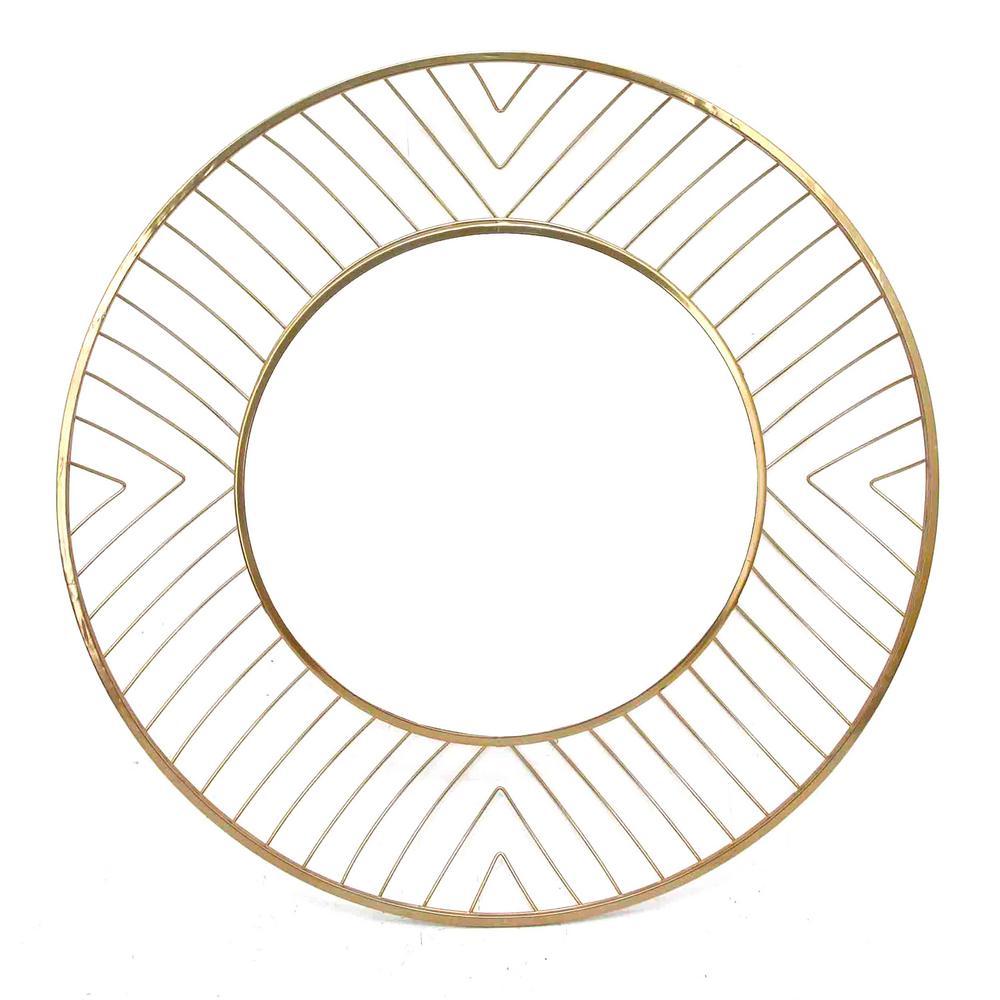 Avila Gold Small Round Mirror Gold