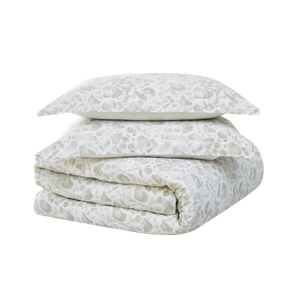 Jasper 3-Piece Grey Cotton King Comforter Set