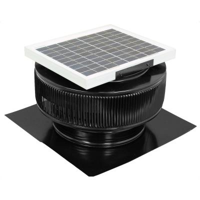 9abe928a70c Master Flow 1500 CFM Black Power Roof Mount Attic Fan with ...