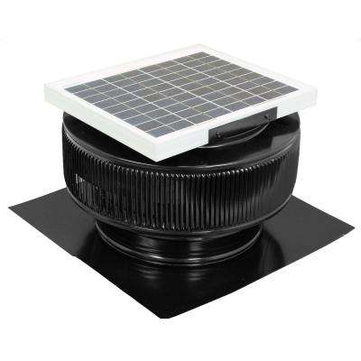 740 CFM Black Powder Coated 10-Watt Solar Powered 12 in. Dia. Roof Mounted Attic Exhaust Fan