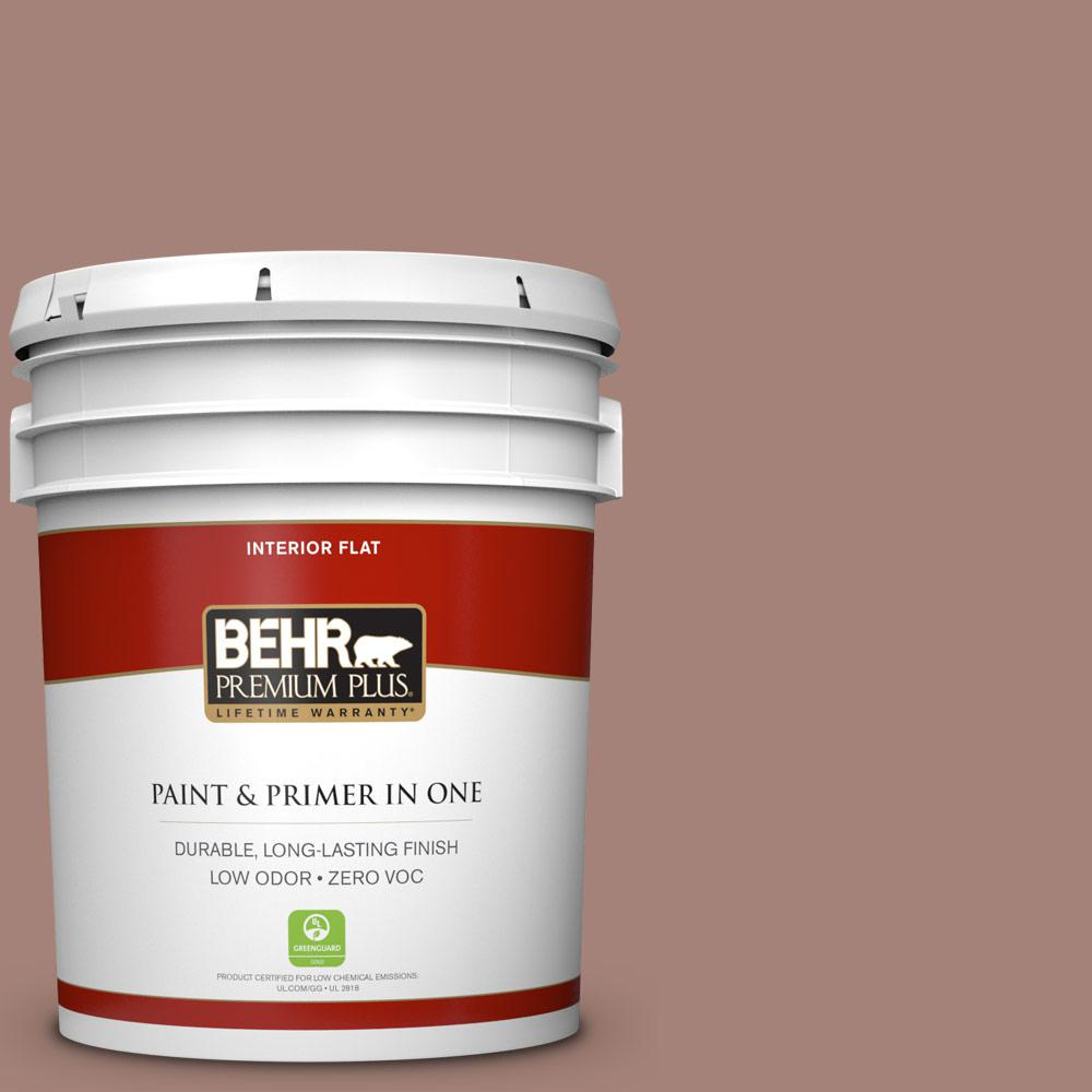 BEHR Premium Plus Home Decorators Collection 5-gal. #HDC-NT-07 Hickory Branch Zero VOC Flat Interior Paint