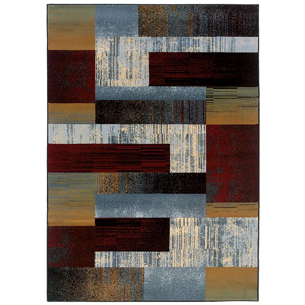 LR Resources Tallys Road Busy Nights 9 ft. x 12 ft. 2 in. Plush Indoor Area rug